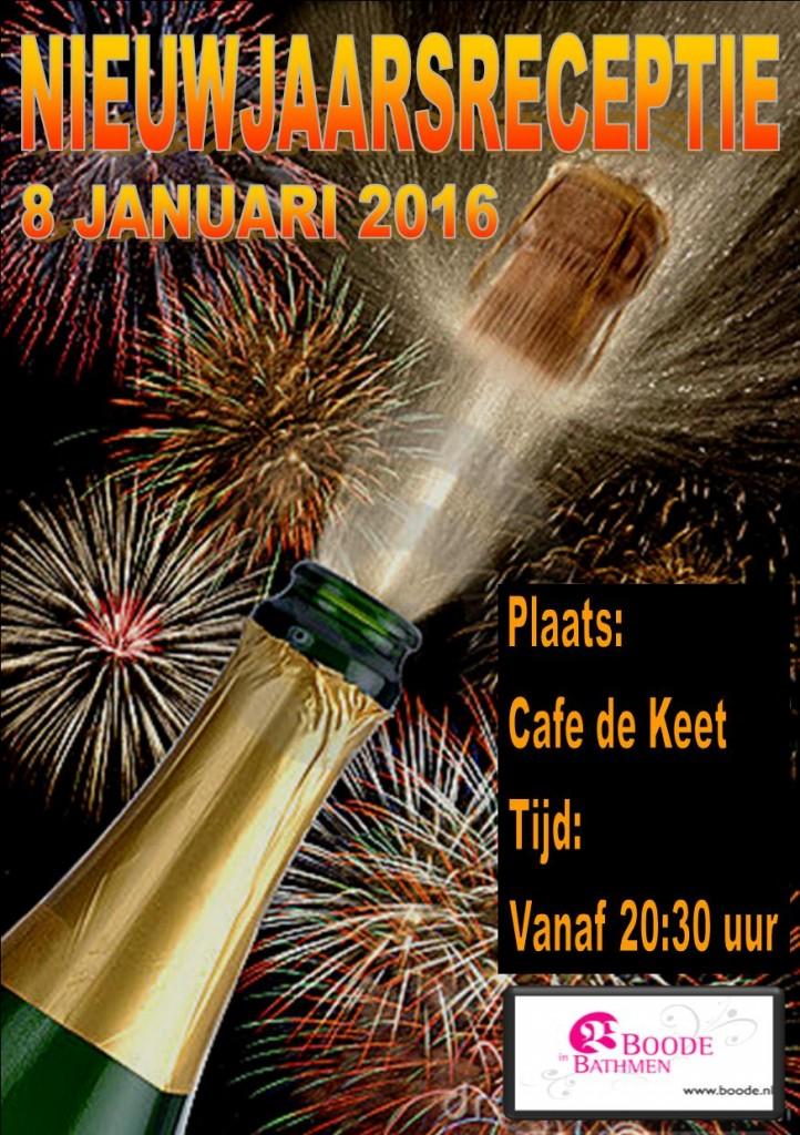 Nieuwjaarsreceptie 2015!
